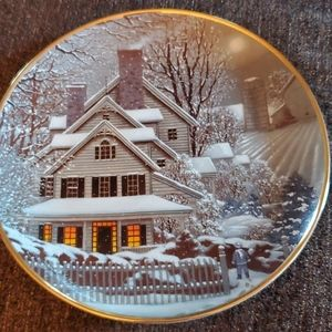 Franklin Mint collectible plate Winter Home